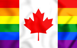 3D Canada Gay Flag. 3D Illustration. Front View Stock Image