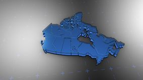 3D Canada - Translucent. 3D animation map for infographic stock illustration
