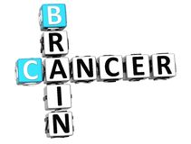 3D Cancer Brain Crossword Photographie stock libre de droits