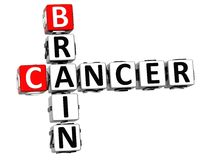 3D Cancer Brain Crossword. Over white background Royalty Free Stock Photography