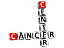 3D Cancer Center Crossword Royalty Free Stock Photo