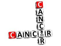 3D Cancer Crossword Stock Photography