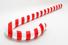Candy Cane. Red and white 3d candy cane Royalty Free Stock Images
