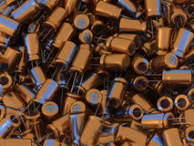 3D Capacitors Stock Image