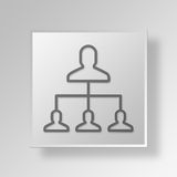 3D capo Button Icon Concept Immagini Stock