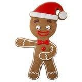 3d carácter, pan de jengibre alegre, decoración divertida de la Navidad, Foto de archivo libre de regalías