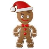 3d carácter, pan de jengibre alegre, decoración divertida de la Navidad, Foto de archivo