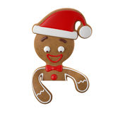 3d caráter, pão-de-espécie alegre, decoração engraçada do Natal, Foto de Stock