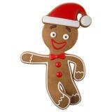3d caráter, pão-de-espécie alegre, decoração engraçada do Natal, Fotografia de Stock