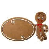 3d caráter, pão-de-espécie alegre, decoração engraçada do Natal, Fotos de Stock Royalty Free