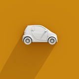 3d Car Compact White Icon Stock Photography