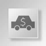 3D Car Cost icon Business Concept vector illustration
