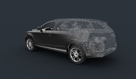 3d car model wireframe Stock Image