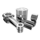 3d car piston. Royalty Free Stock Image