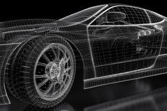 3D car Royalty Free Stock Image