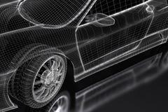 3D car stock illustration