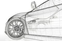 3D car Stock Photography