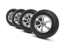 3d Car wheels Royalty Free Stock Image