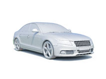 3d Car White Blank Template Royalty Free Stock Photos