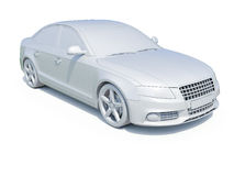 3d Car White Blank Template Royalty Free Stock Images