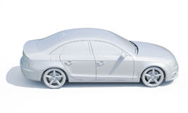 3d Car White Blank Template Stock Images