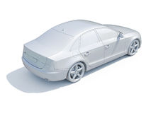3d Car White Blank Template Stock Photos
