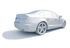 3d Car White Blank Template Stock Photo