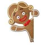 3d caractère, pain d'épice gai, décoration drôle de Noël, Photographie stock libre de droits