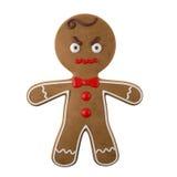 3d caractère, pain d'épice gai, décoration drôle de Noël, Photos libres de droits