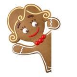 3d caractère, pain d'épice gai, décoration drôle de Noël, Images libres de droits