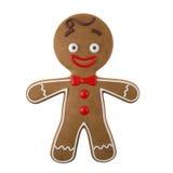 3d caractère, pain d'épice gai, décoration drôle de Noël, Image stock