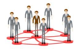 3d caractère, personnes d'homme tenant dans les boucles reliées illustration stock