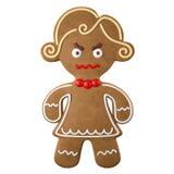 3d carattere, pan di zenzero allegro, decorazione divertente di Natale, illustrazione di stock