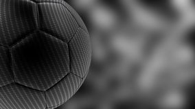 3d carbon soccer ball background Stock Images