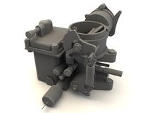 3d carburetor Stock Photography