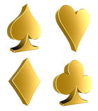 3d card symbol Royalty Free Stock Photos