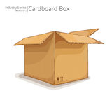3D cardboard box Royalty Free Stock Photography