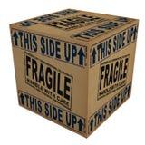 3D Cardboard box Royalty Free Stock Photos