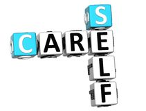 3D Care Self Crossword Stock Images