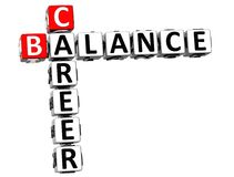 3D Career Balance Crossword. On white background Royalty Free Stock Images