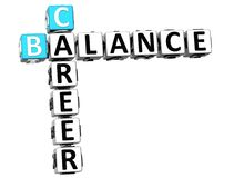 3D Career Balance Crossword. On white background Royalty Free Stock Photography