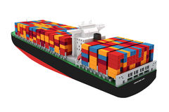 3d cargo container ship Stock Image