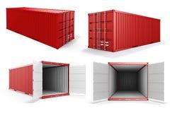 3d cargo container Stock Photos