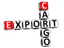 3D Cargo Export Crossword. On white background Stock Photography