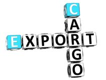 3D Cargo Export Crossword. On white background Royalty Free Stock Photos