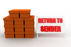 3d cargo return to sender Stock Photo