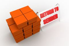 3d cargo return to sender Stock Images