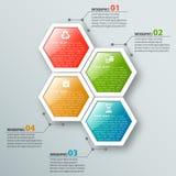 3D carta astratta Infographics Fotografia Stock Libera da Diritti