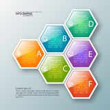 3D carta astratta Infographics Immagine Stock