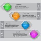 3D carta astratta Infographics Immagine Stock